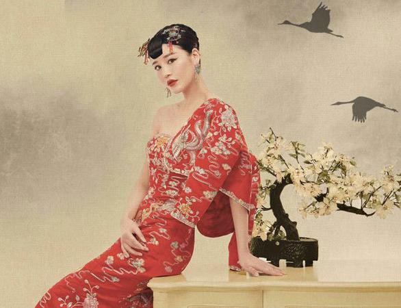 邱璐璠新娘杂志写真曝光 时尚中国风宛如画