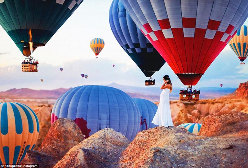 俄罗斯摄影师拍土耳其热气球 如梦似幻