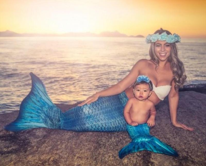 准妈妈拍孕期美人鱼写真风靡网络