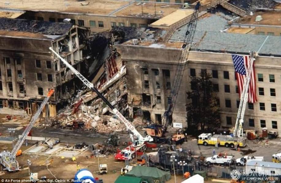911袭击后大楼内部画面曝光