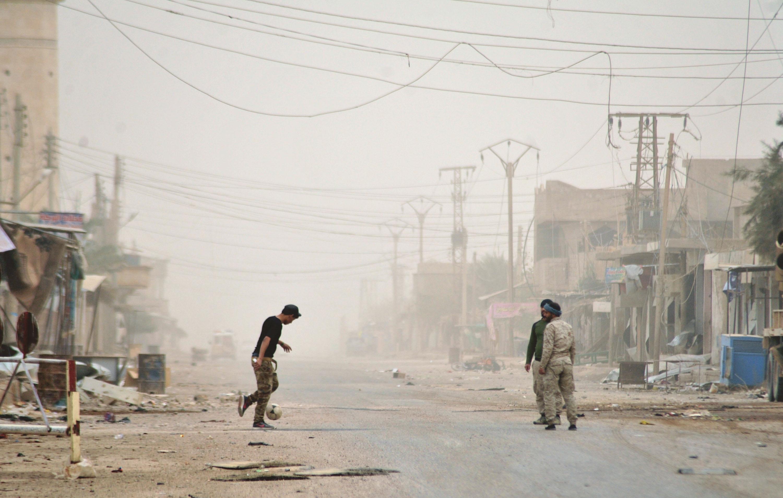 走进解放后的叙利亚阿布卡迈勒市