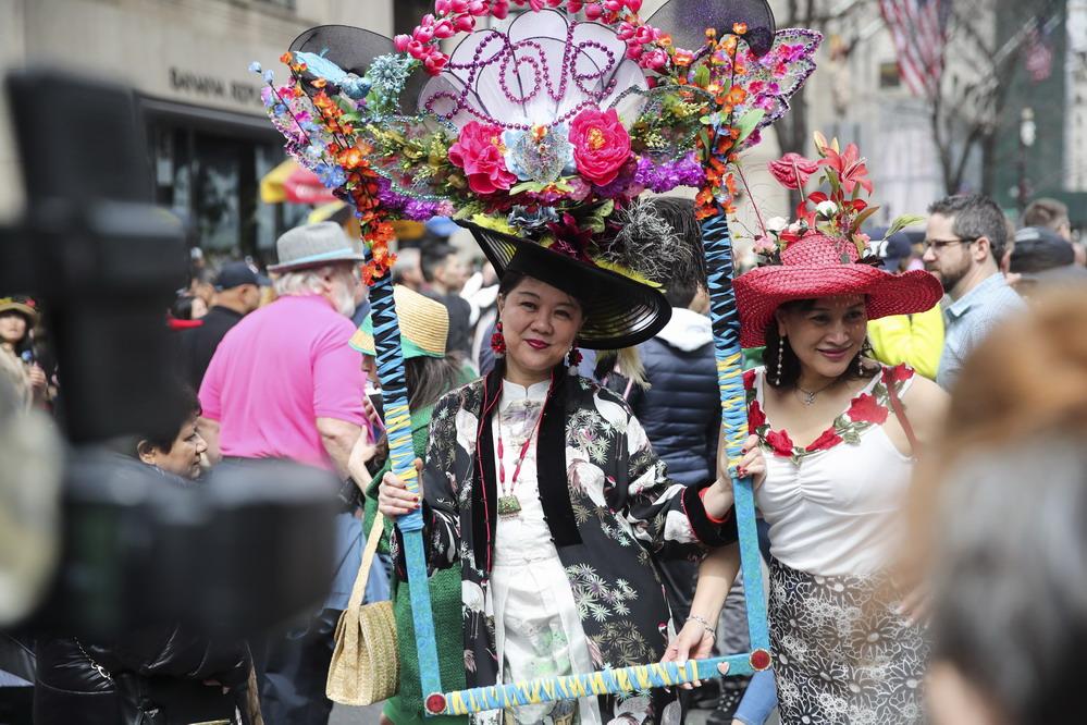 纽约举行复活节花帽游行