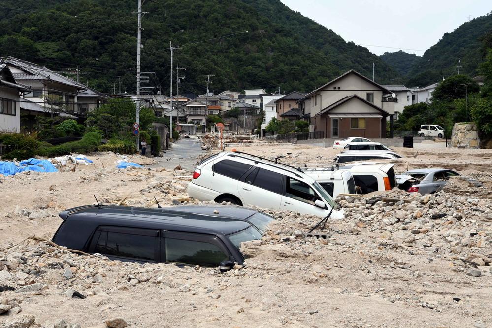 探访日本暴雨灾区