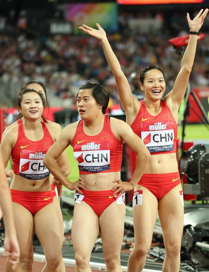 伦敦世界杯:中国队获女子4X100米第三名