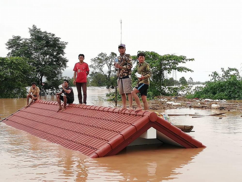 老挝南部水电站溃坝致数人死亡、数百人失踪