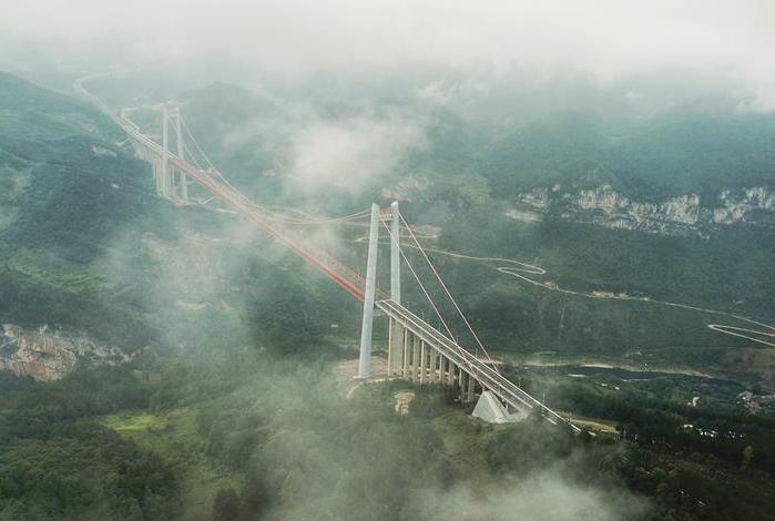 雾锁清水河大桥
