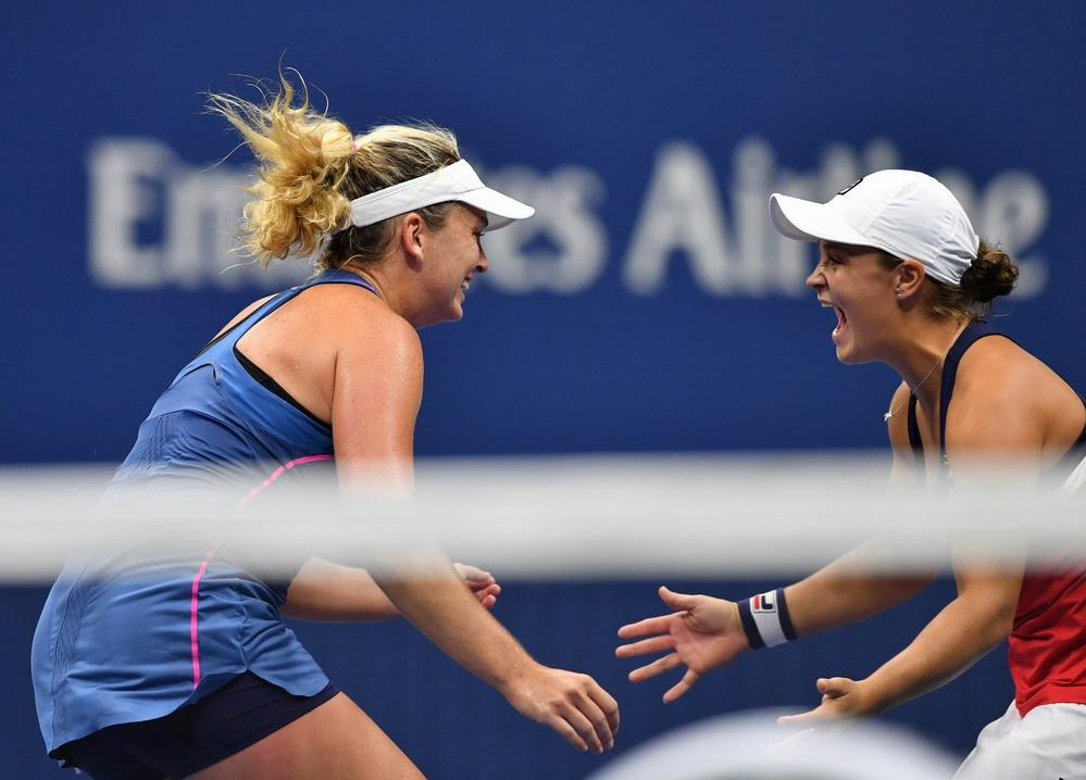 网球——美网:巴蒂/范德维格组合夺冠