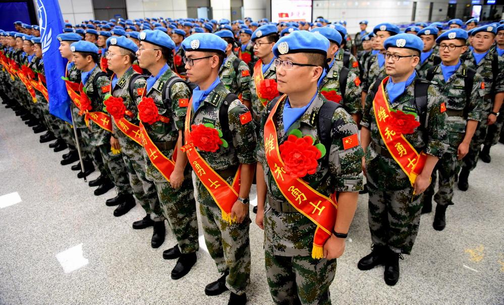 中国第九批赴南苏丹(瓦乌)维和部队出征