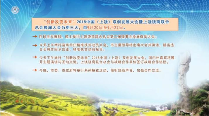 """""""创新改变未来""""2018中国(上饶)双创发展大会昨日启幕"""