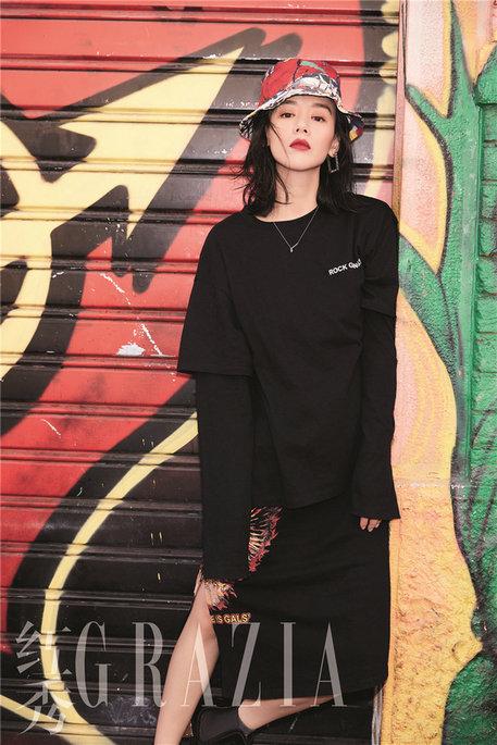 马思纯登时尚杂志银十封面