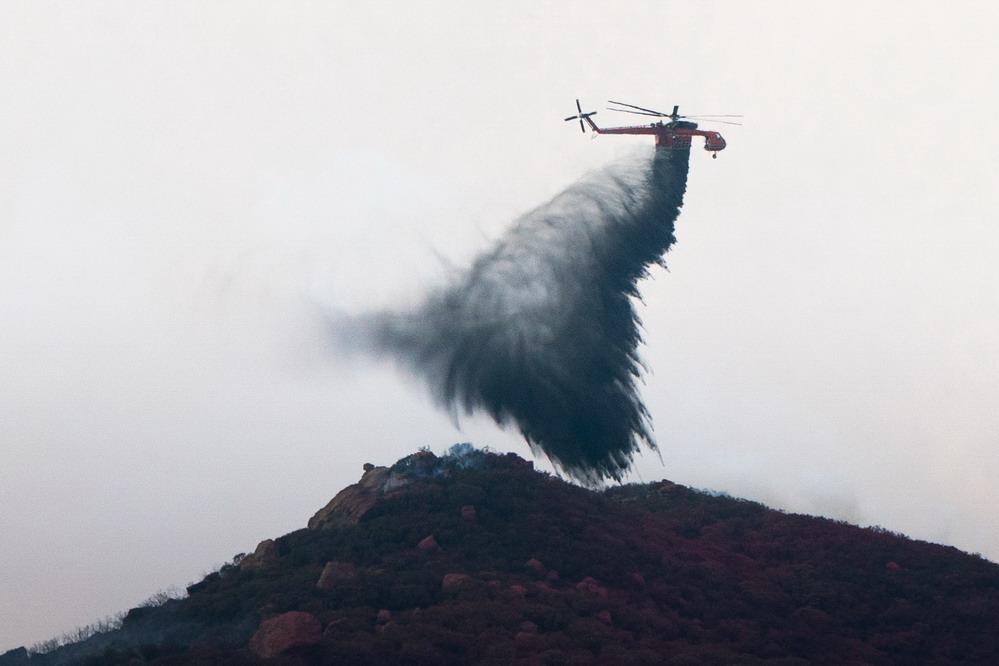 美国加州山火残虐
