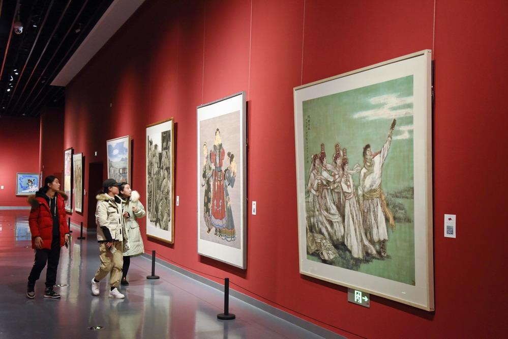 内蒙古举办乌兰牧骑主题美术作品展览