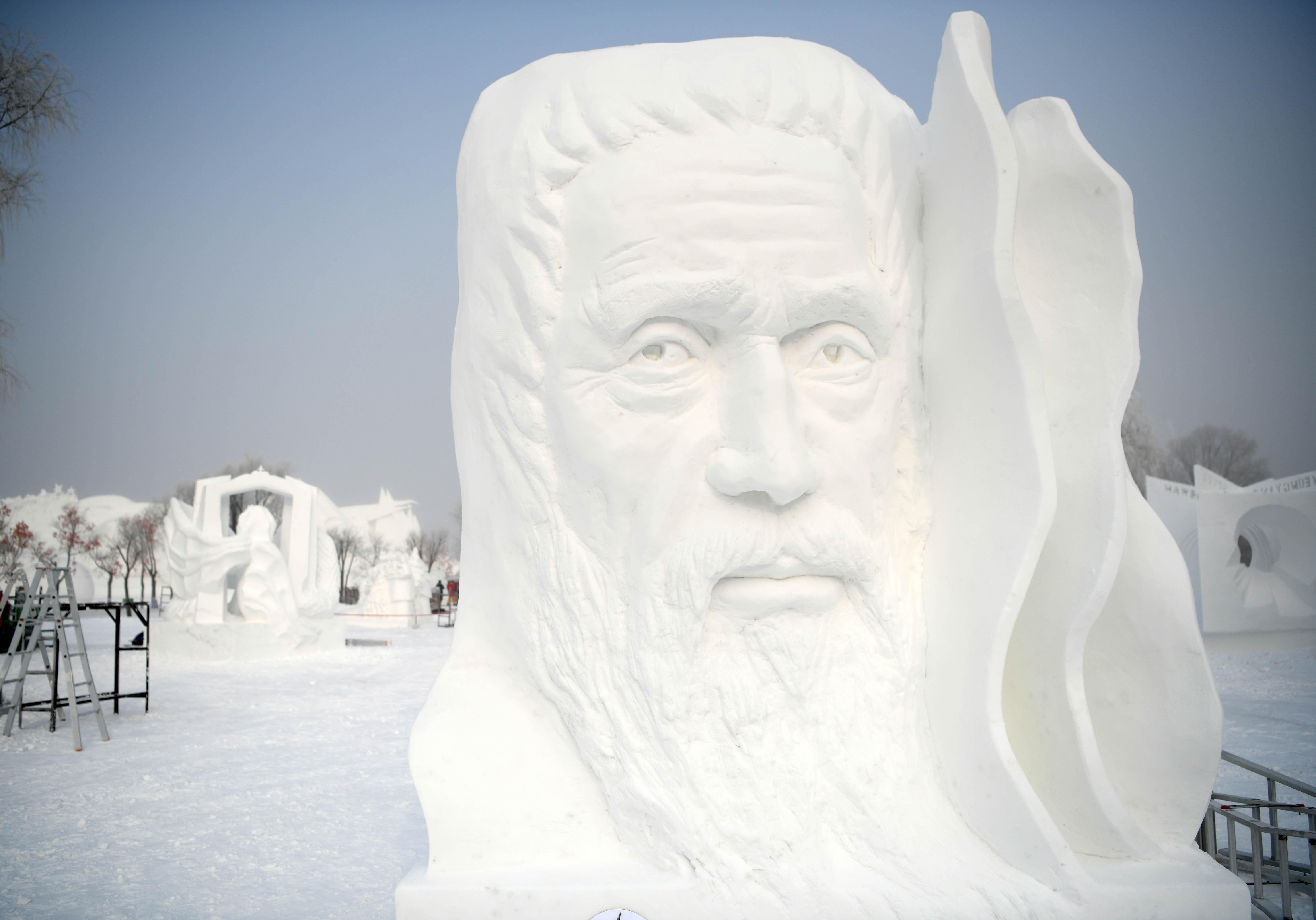哈尔滨国际雪雕比赛落幕