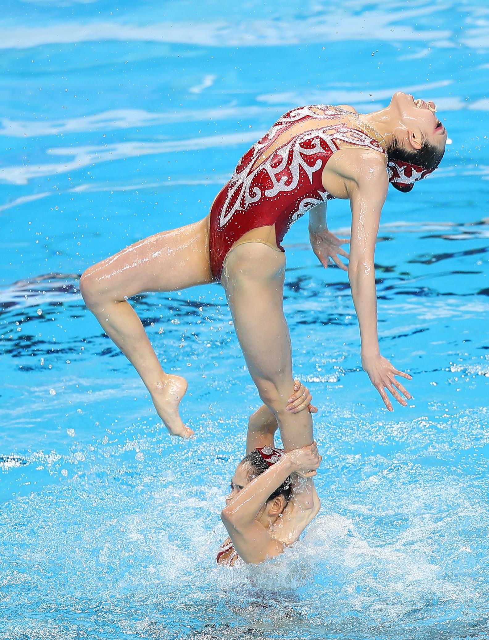 花样游泳——全国冠军赛:自由组合赛况