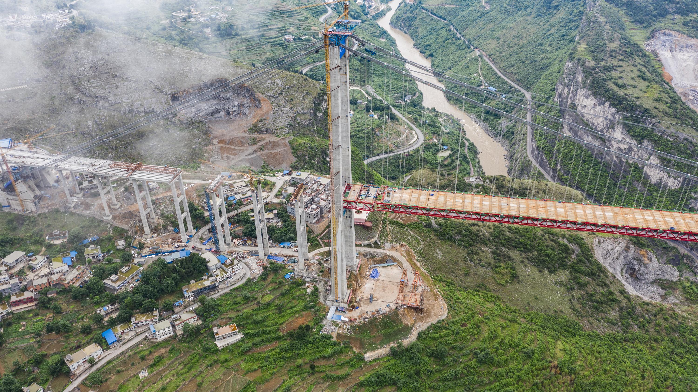 川黔大通道赤水河大桥顺利合龙