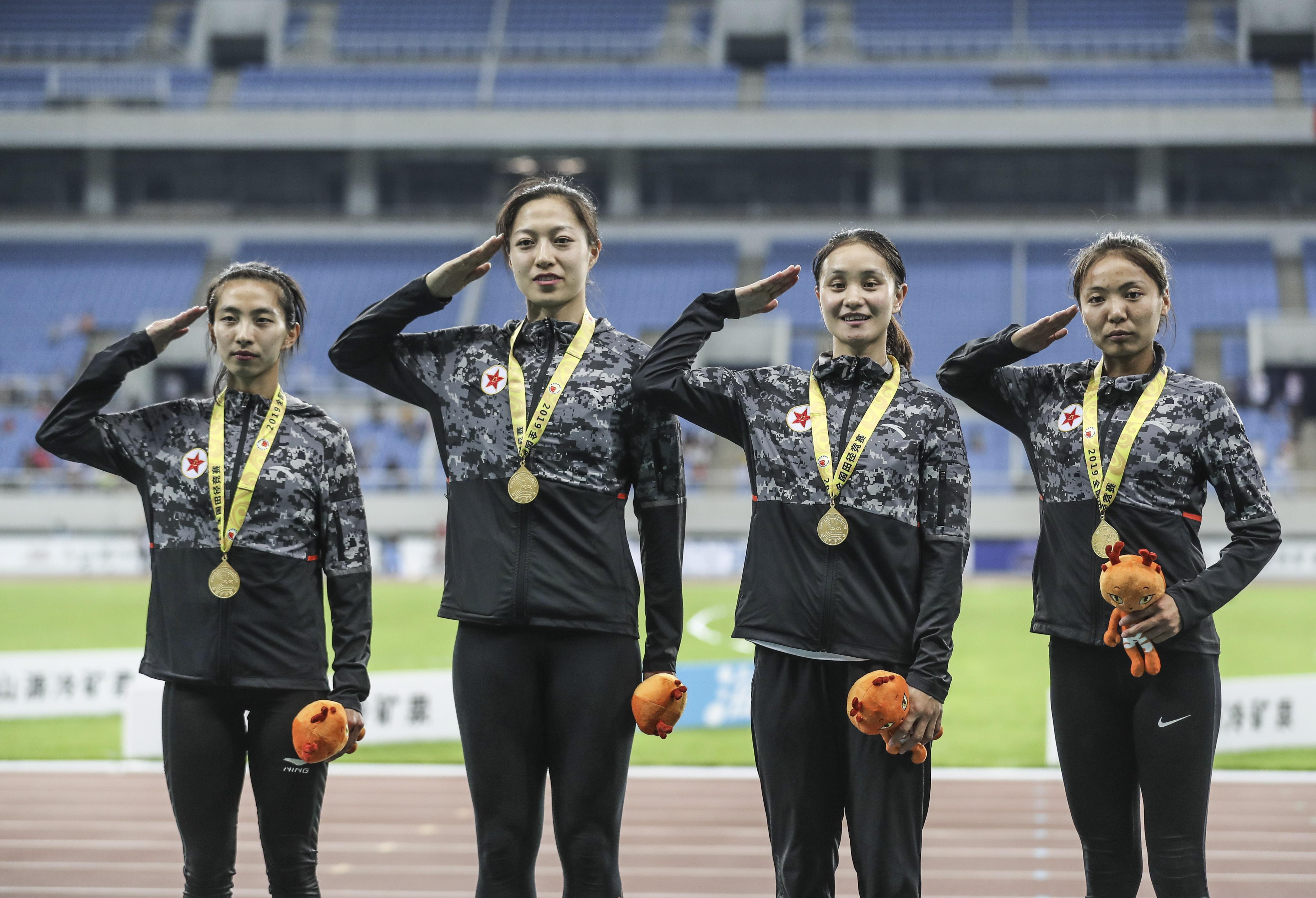 全国锦标赛:八一南昌队获得女子4X100米接力冠军