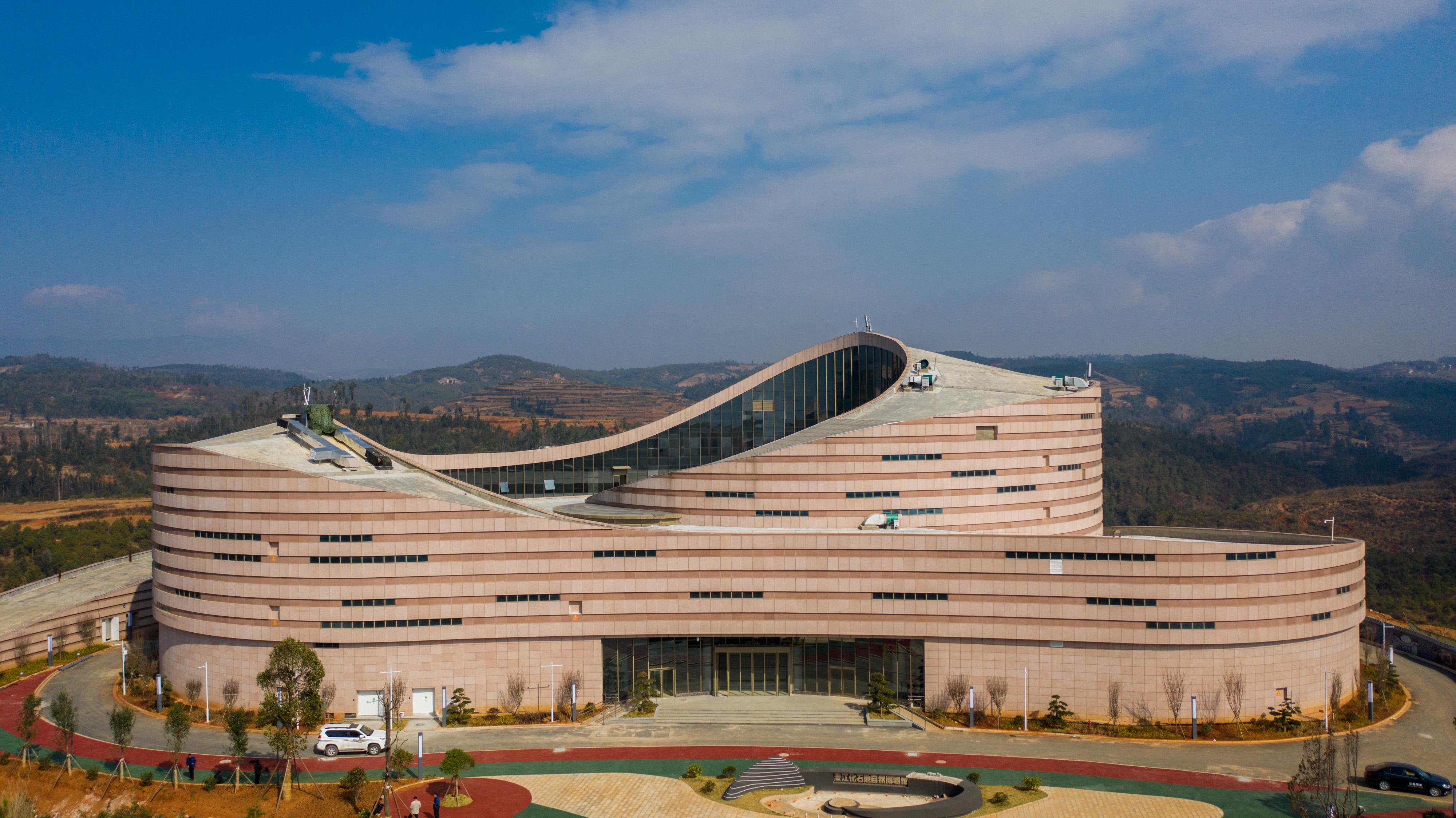 云南澄江化石地自然博物馆基本建成