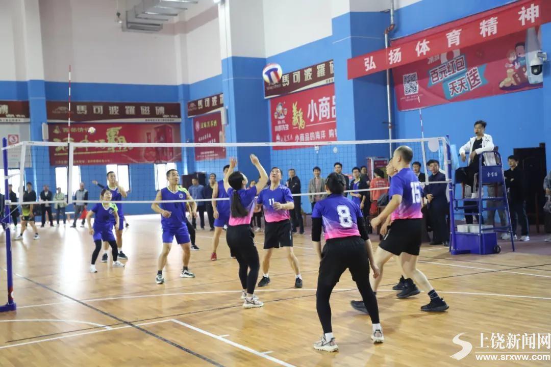 万年县  举行第二届教职工气排球赛