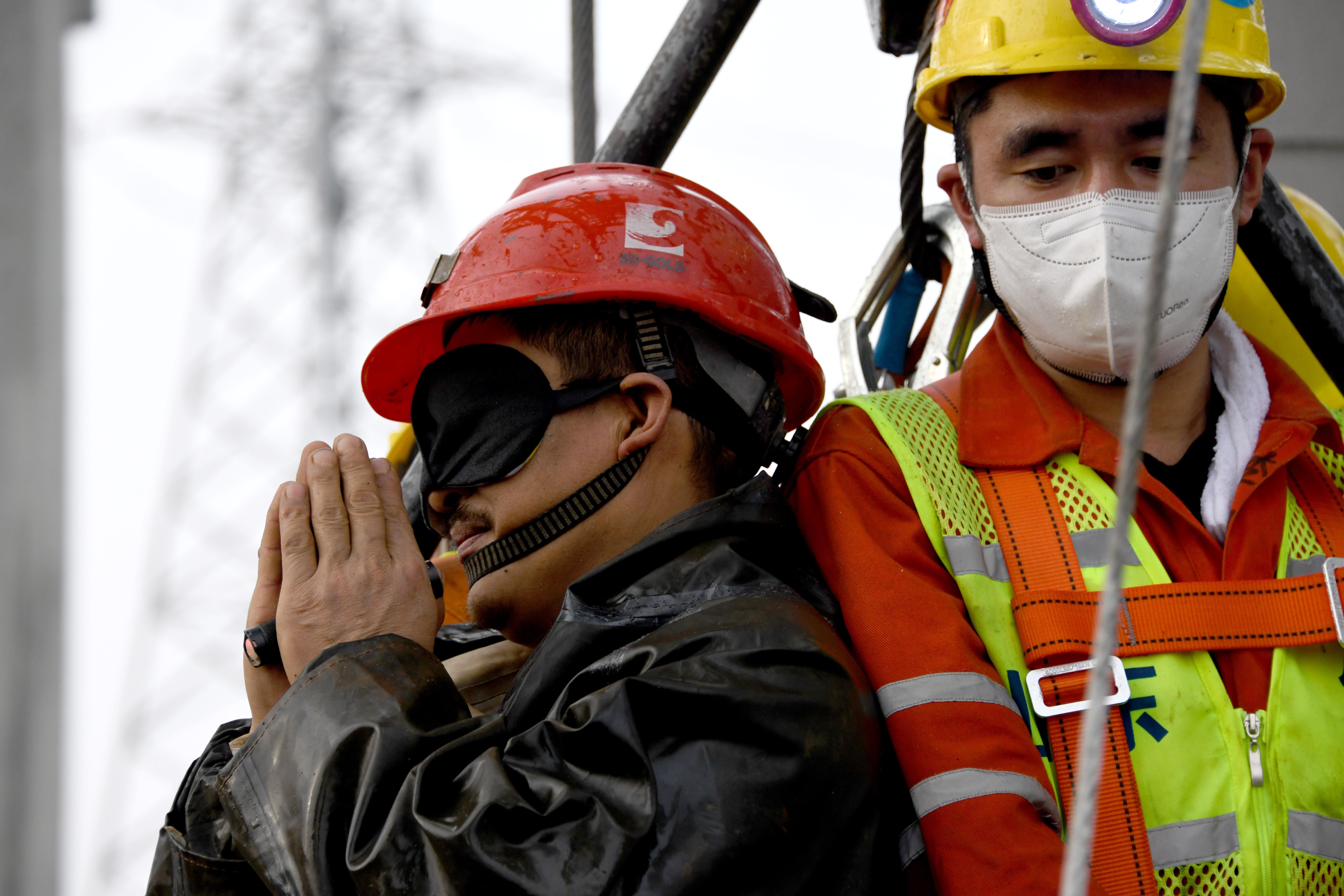 11名矿工成功升井获救
